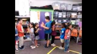 Kinder and 1st grade circle dance