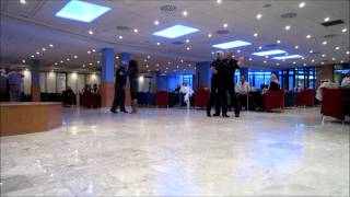 Dancing paso doble in hotel Madeira Benidorm