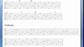Landslide (live version) Guitar Lesson - Tab With Video, Audio