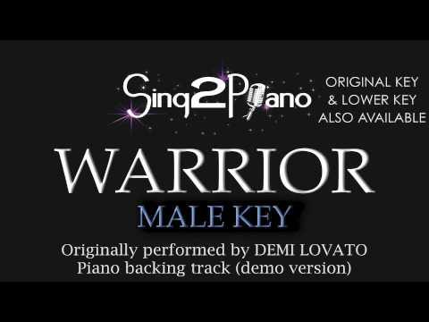 Warrior Demi Lovato Male Key Karaoke Version Chords Chordify