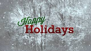 Happy Holidays with Snow - HD Background Loop