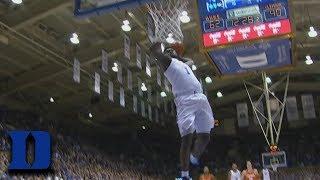 Duke's Zion Williamson Does A 360 Dunk