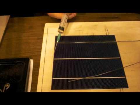 Güneş Paneli Yapımı - Güneş Pili Birleştirme, Lehimleme - How to make solar panel - part1