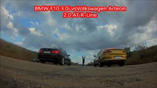 Dragracing Volkswagen Arteon 2.0 AT R-Line vs BMW F10 3.0i Fpv racing drone