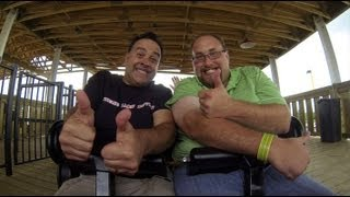 Robb Alvey & Banks Lee Ride White Lightning at Fun Spot in Orlando