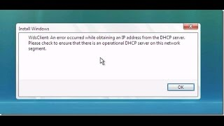 WdsClinet: An error occured while obltaining an IP Address from the DHCP server - Windows 2012 R2