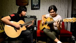 (Tommy Emmanuel) Borsalino cover by Alyza and Kevin
