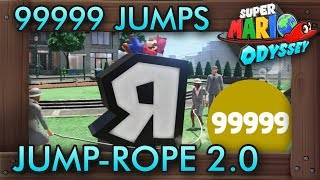 How to Get 99999 Jumps in Jump-Rope Challenge 2.0 - Super Mario Odyssey