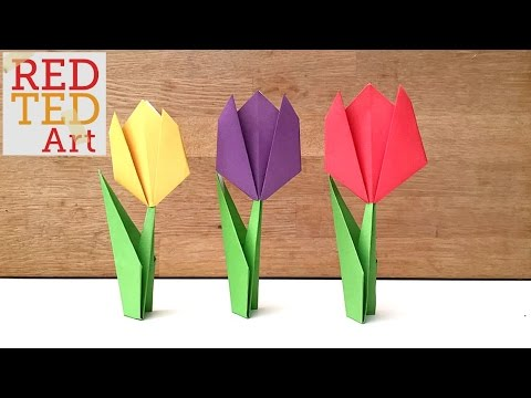 How To Make Origami Flower Tulip