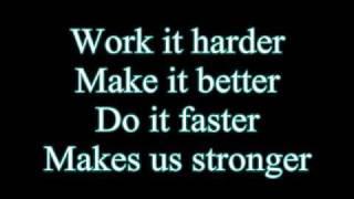 Daft Punk-Harder Better Faster Stronger (Lyrics)