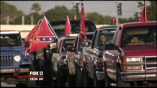 Rolling rally for Confederate flag