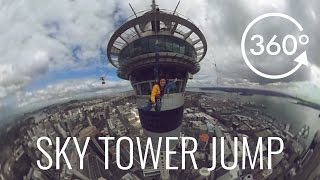Jumping Off Auckland Sky Tower in 360°