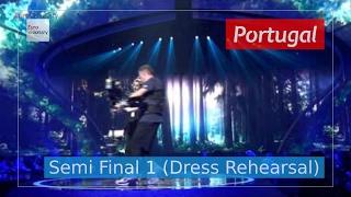 Portugal Eurovision 2017 (Close up) - Amar Pelos Dois (Semi Final 1 Dress Rehearsal, Live)