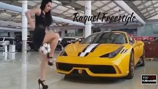 "Freestyle football beautiful girls show by amazing girl   ""Raquel Benetti"""
