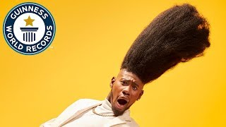 Tallest high top fade - Guinness World Records