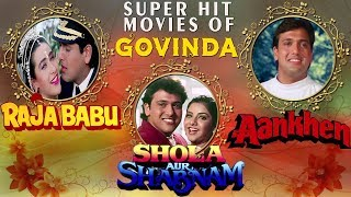 Hindi Comedy Movies of Govinda | Raja Babu | Shola Aur Shabnam | Aankhen | 3 Movies in One |Showreel width=