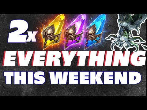 2x EVERYTHING THIS WEEKEND! Sacred, Void, Ancient | Free lego and Fragment talk Raid Shadow Legends