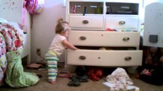 Putting away clothes