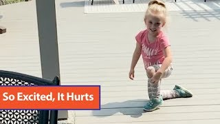 Little Girl Runs Around Deck After Finding Out Mom Is Pregnant