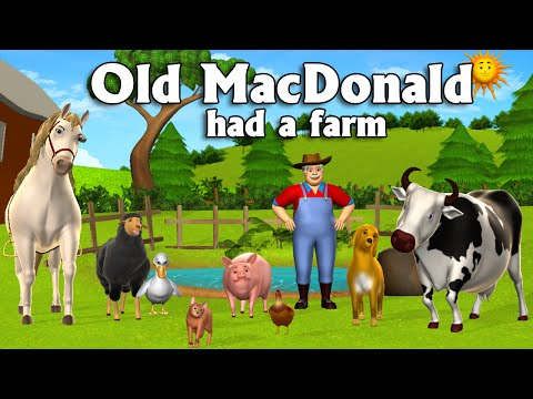 Old MacDonald Had A Farm - 3D Animation English Nursery Rhymes & Songs for children - YouTube