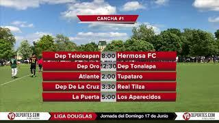 Horario Mundialista en la Liga Douglas para este domingo 17 de Junio