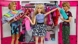 Custom Barbie Doll Closet - 3D Printing Doll Clothes Hangers PLUS Ken Giveaway