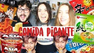 COMIDA COREANA PICANTE 🌶️| Andrea Compton ft Julia Compton & Gonzalo Caps