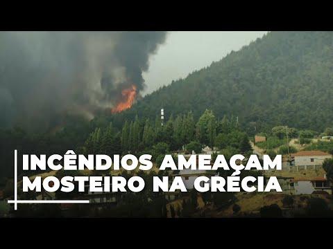Incêndio florestal devastador na Grécia transformou tudo o que encontrou em cinzas - Bombeiros declaram que uma