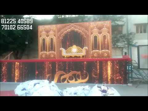 Budget LED Digital Wedding Marriage Reception event Stage Decoration Chennai, Bangalore India 91 81225 40589