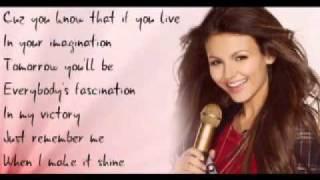 Victoria Justice - Make it Shine [Karaoke] + On Screen Lyrics