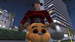 animatronics: freddy fazbear VS freddy Krueger - Five Nights at Freddy's (GTA 5)