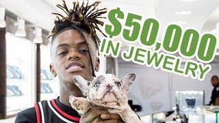 JayDaYoungan Brings His $10,000 Puppies Jewelry Shopping