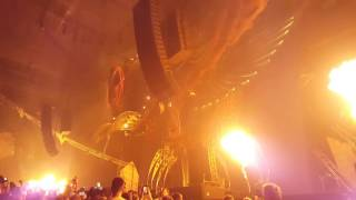 Qlimax 2016 anthem during the intro of Coone