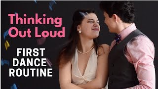 "Easy Wedding Dance Routine to ""Thinking Out Loud"""