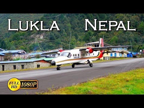 Lukla airport landing. One of the most dangerous airports in the world.