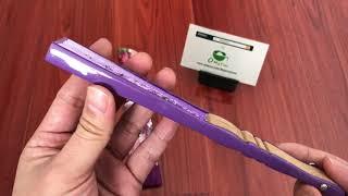 OMyTea Hand Fans for Women - Purple Grassflowers