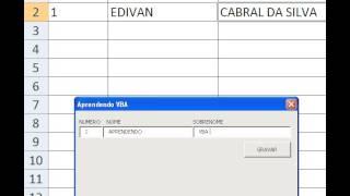Passo a passo Cadastro em Excel VBA