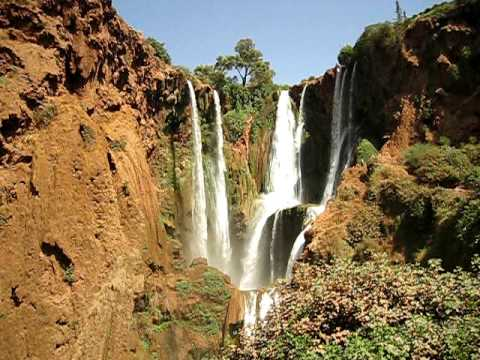 at least 12 streams of water at cascade ouzoud morocco