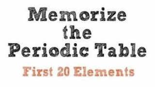 Memorize Periodic Table First 20 Elements In 20 Seconds | HINDI