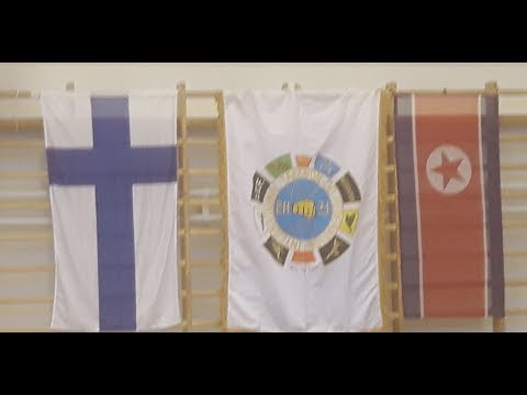 North Koreans teach Finns Taekwondo (ITF)