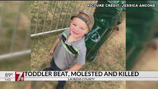 Toddler died from multiple blunt force trauma, Laurens Co. coroner says