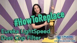 Eureka LightSpeed Dust Cup Filter Replacement DCF-4 & DCF-18, Part # 62132