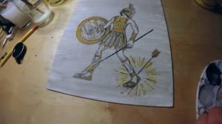 I no longer fear the razor guarding my heel (Achilles painting)