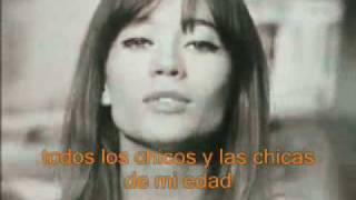 Tous les garçons et les filles - Françoise Hardy-subtítulos en español