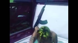 6ix9ine in Slovakia Czech Republic. Gun Pool Party Ak 47 Funny Run