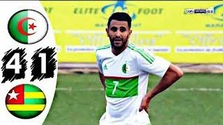 ملخص مباراة الجزائر و توغو 4-1 ثنائية عالمية لرياض محرز - جنون حفيظ الدراجي!