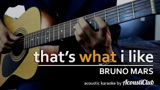 That's What I Like - Bruno Mars [Acoustic Guitar Karaoke] short