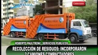 La comuna local recibió 2 camiones compactadores de residuos
