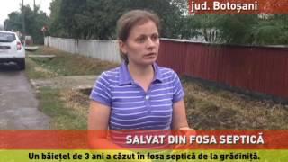 Copil căzut în fosa septică de la grădiniță, salvat ca prin minune