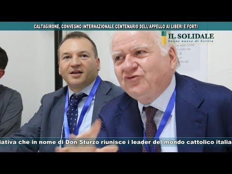 Video: CALTAGIRONE, MCL COSTALLI AL CONVEGNO INTERNAZIONALE CENTENARIO DELL'APPELLO AI LIBERI E FORTI
